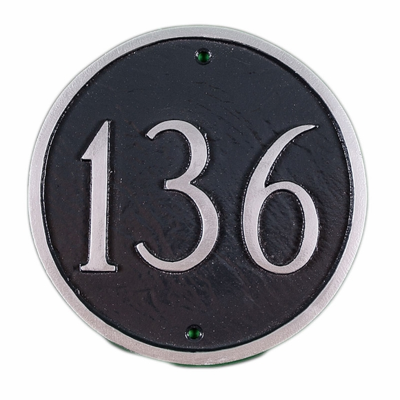 Large Circle House Number Sign - Round Address Plaque