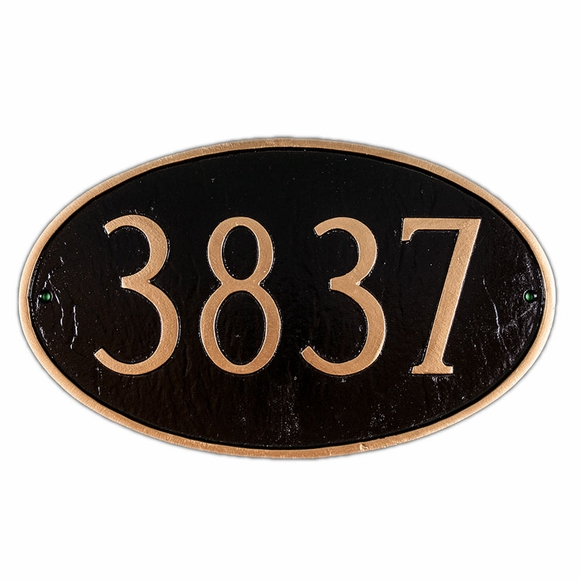 Personalized Large Oval House Address Sign - House Number Plaque