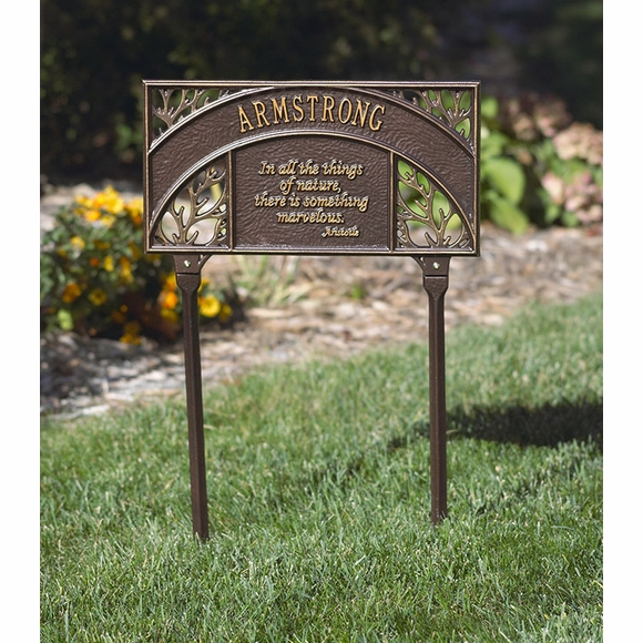 Aristotle Quote Lawn Plaque With Name or Address: In all the things of nature, there's something marvelous