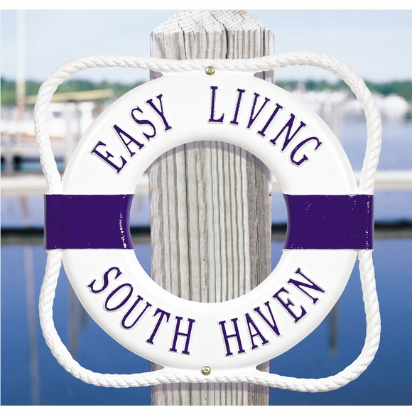 Personalized Life Ring Address Plaque, Dock Plaque, or House Name Sign