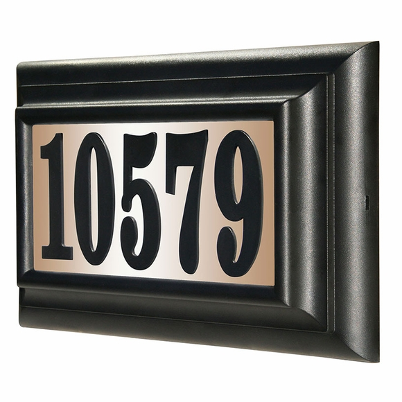 Lighted House Number Sign