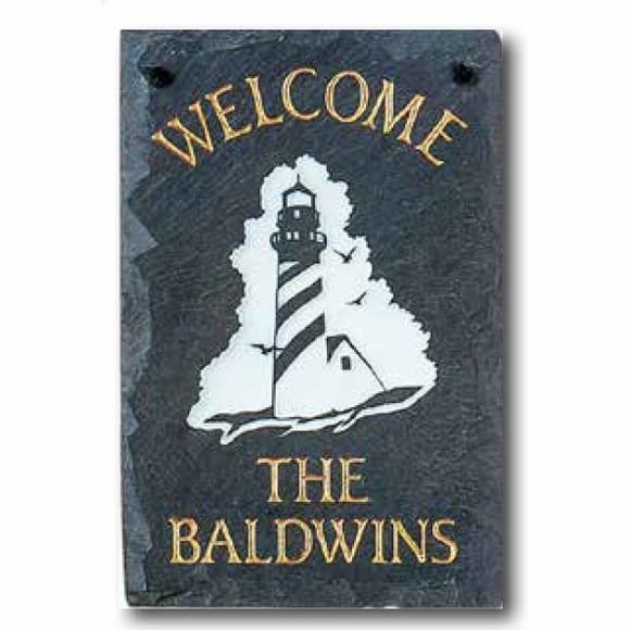 Personalized Lighthouse Welcome Plaque