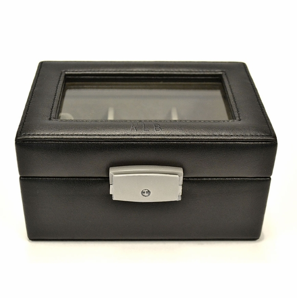 Personalized Luxury Leather 3 Slot Watch Box
