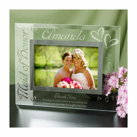 Personalized Engraved Maid of Honor or Matron of Honor Picture Frame