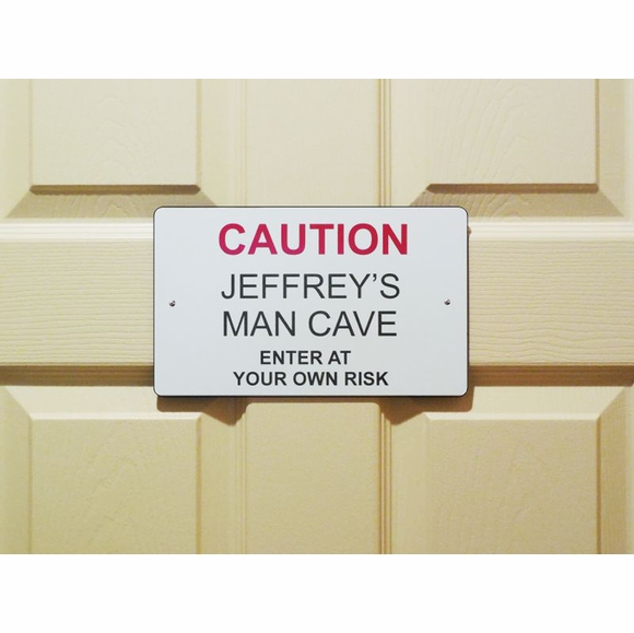 Caution Enter At Your Own Risk Sign - Custom Door, Room, or Man Cave Sign
