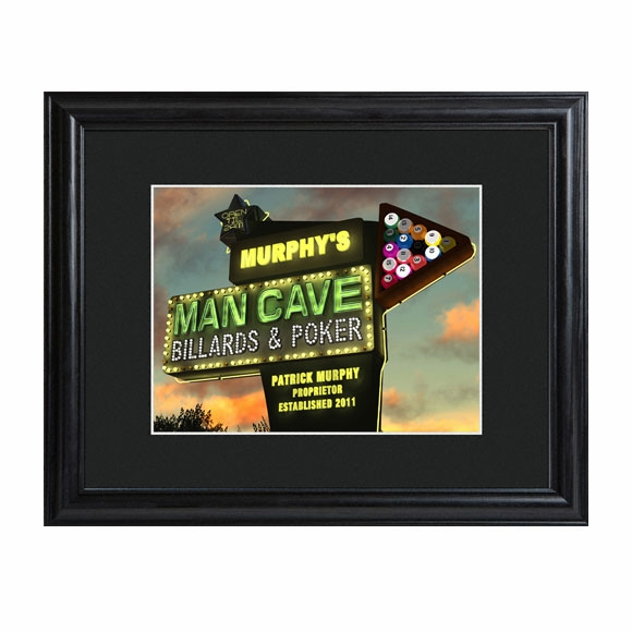 Personalized Man Cave Framed Print