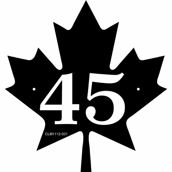 Personalized Maple Leaf House Number Sign