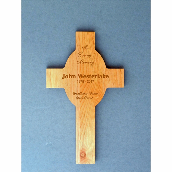 Personalized Memorial Cross In Loving Memory