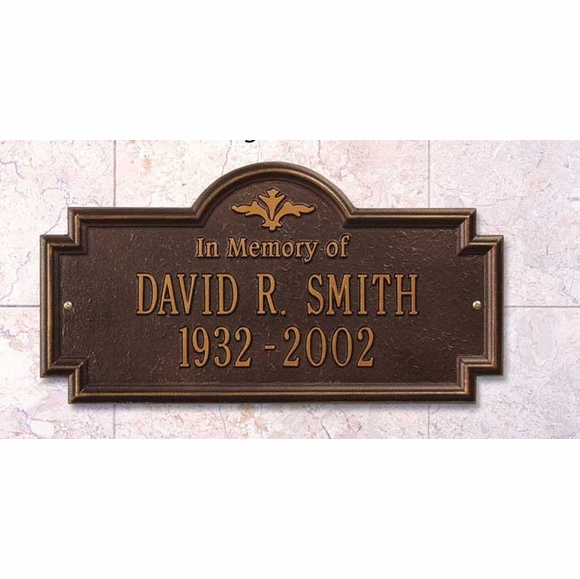 In Memory Of Personalized Memorial Marker Wall Plaque