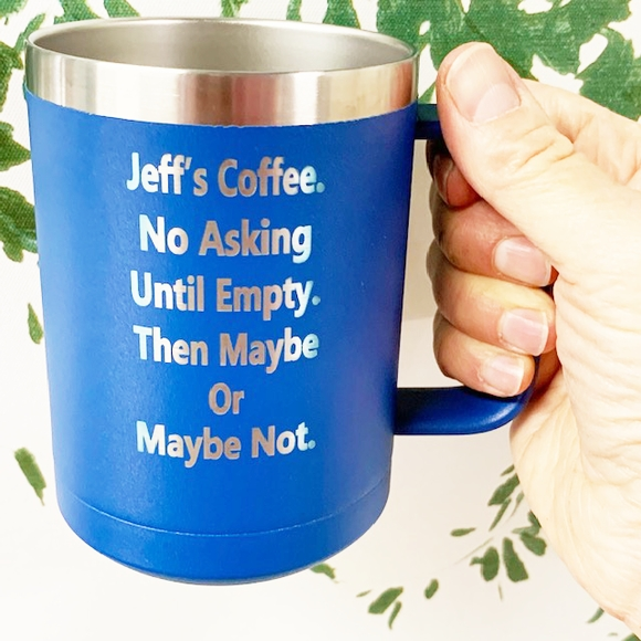 Personalized Mug - Vacuum Insulated Stainless Steel Custom Engraved With Your Text