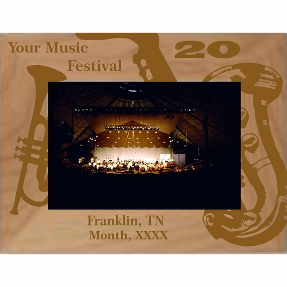 Personalized Music Festival Picture Frame