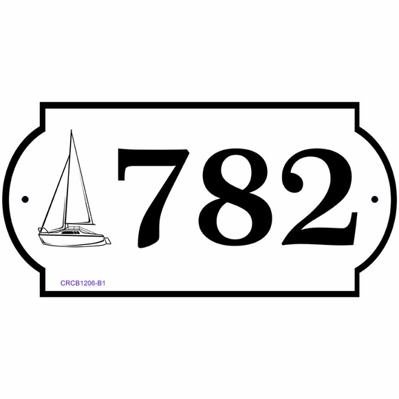 Personalized Nautical Address Plaque