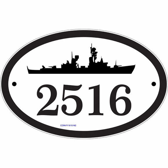 Naval Theme Address Sign or Business Name Sign