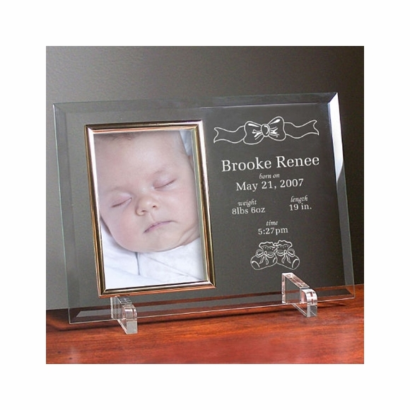 Personalized Engraved Newborn Baby Glass Picture Frame