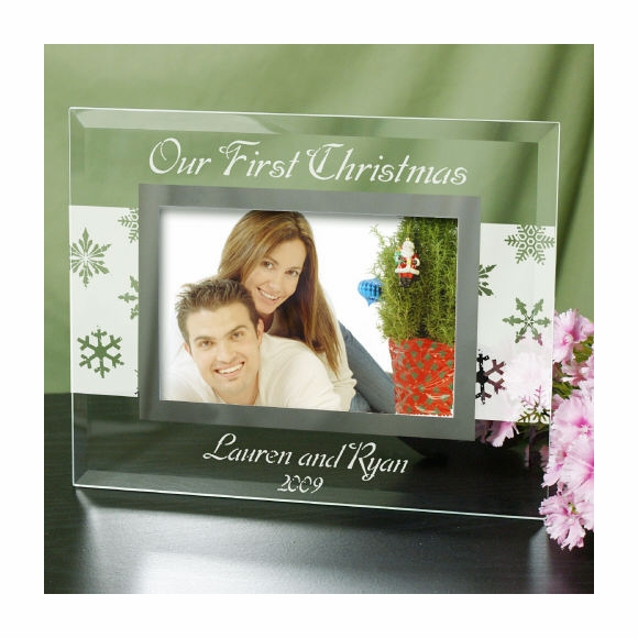 Personalized Our First Christmas Picture Frame