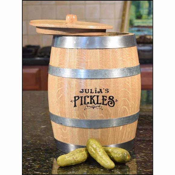 Personalized Pickle Barrel