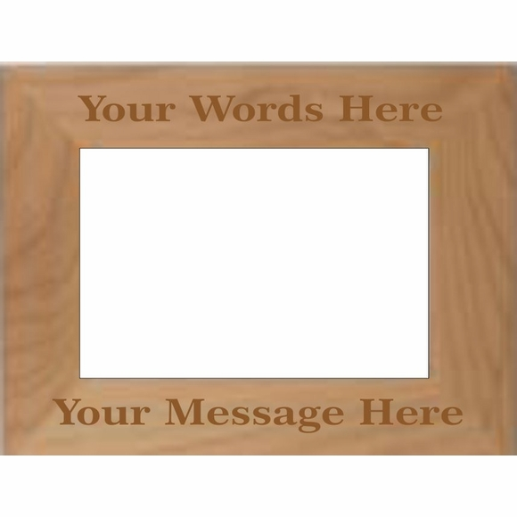 Personalized Picture Frame: Engraved Wood Picture Frame