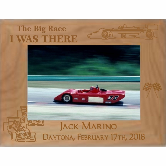 Personalized Picture Frame for Car Race Photos