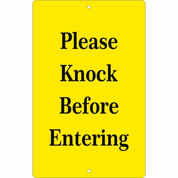 Custom Entryway Sign - Knock Before Entering, Ring Bell, Do Not Disturb, or Other Message