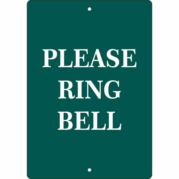 Custom Please Ring Bell Sign