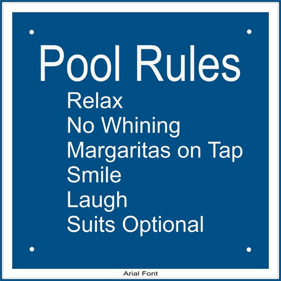 Personalized Pool Rules Sign - Custom Swim Pool, Hot Tub, or Spa Instructions