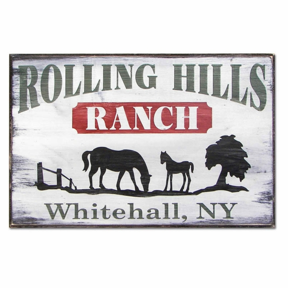 Personalized Ranch Address Sign