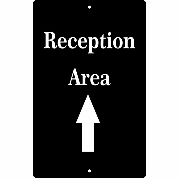 Personalized Reception Area Directional Sign With Arrow