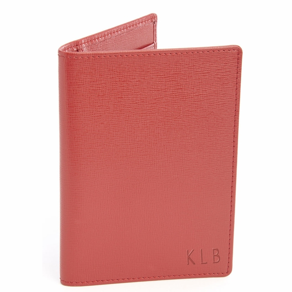 Personalized RFID Blocking Passport Document Wallet Monogrammed With Your Initials