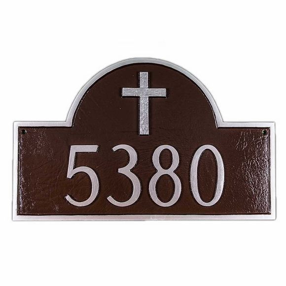 Rugged Cross Address Plate