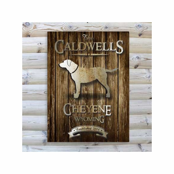 Personalized Rustic Wood Cabin Canvas Print