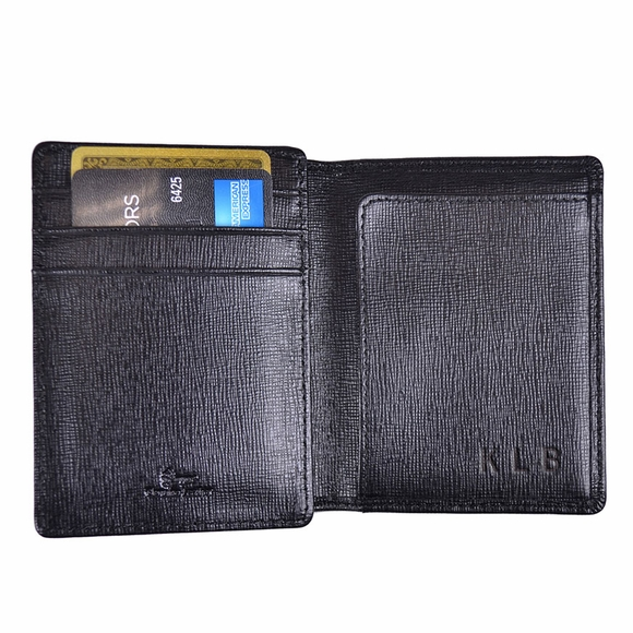 Personalized Saffiano Leather Money Clip Wallet