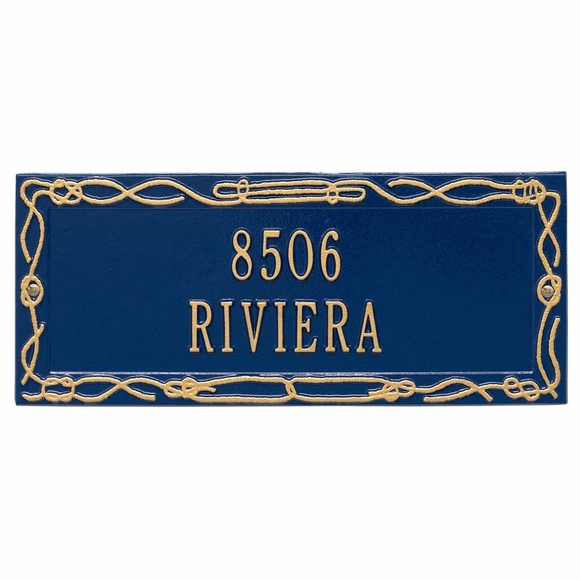 Personalized Sailor's Knot Address Plaque - Nautical Theme Address Sign