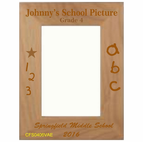 Personalized School Picture Custom Engraved Picture Frame