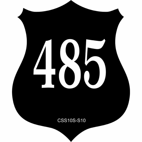 Shield Shape Address Sign - Badge House Number Plaque