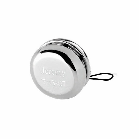 Personalized Silver Yo Yo