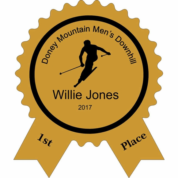 Personalized Skiing Competition Award Plaque