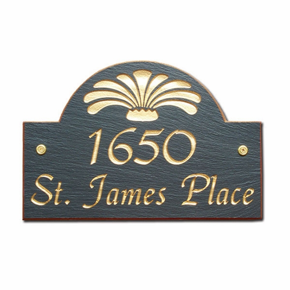 Personalized Slate Address Plaque with Script Font