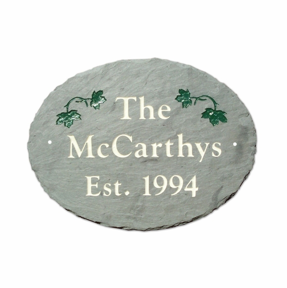 Personalized Slate Established Date Wall Sign