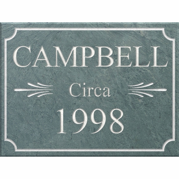 Personalized Slate Historic Sign With Name And Built or Circa Year