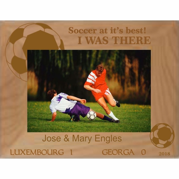 Personalized Custom Engraved Soccer Match Picture Frame