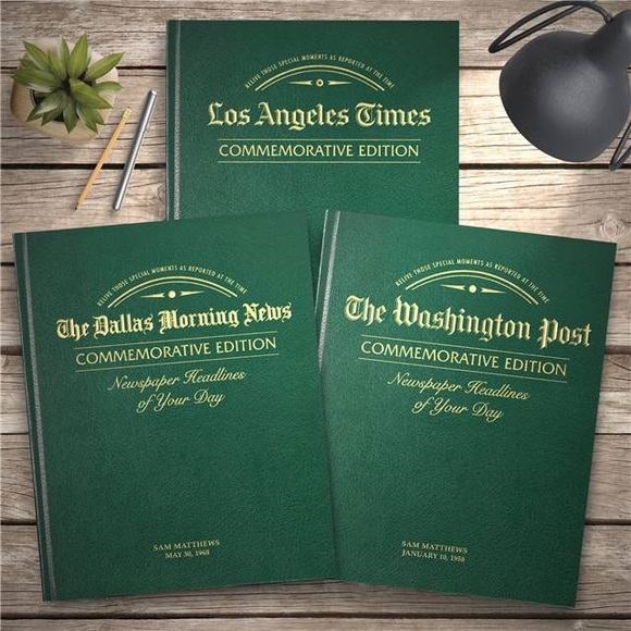 Personalized Special Date Commemorative Newspaper Book