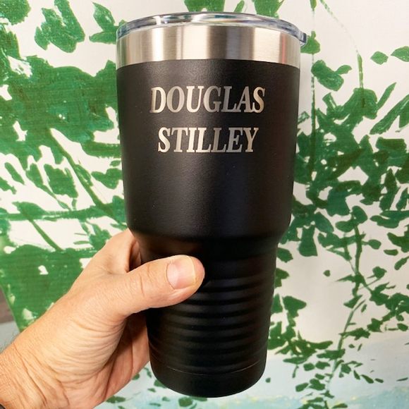 Personalized Stainless Steel Tumbler - Large 30 oz. Size Double Wall Vacuum Insulated