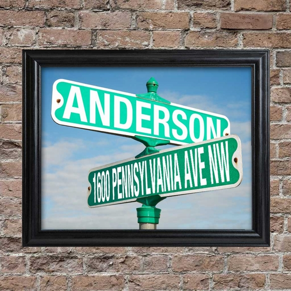 Personalized Street Signs >> Personalized Street Sign Framed Print