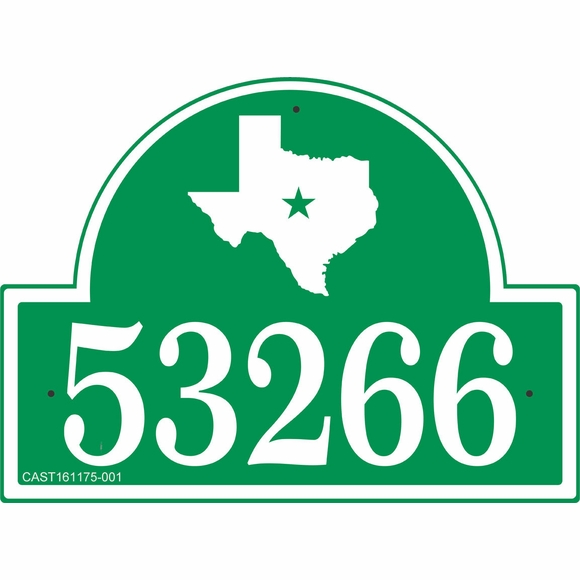 Texas Address Plaque