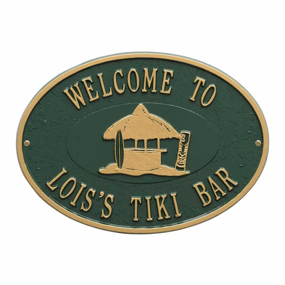 Personalized Tiki Hut Wall Plaque