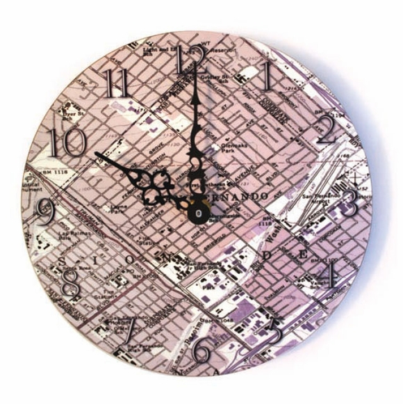 Personalized Topographic Map Clock for Any US Address