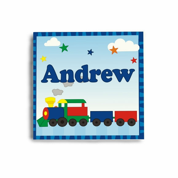 Personalized Train Sign For Child's Room