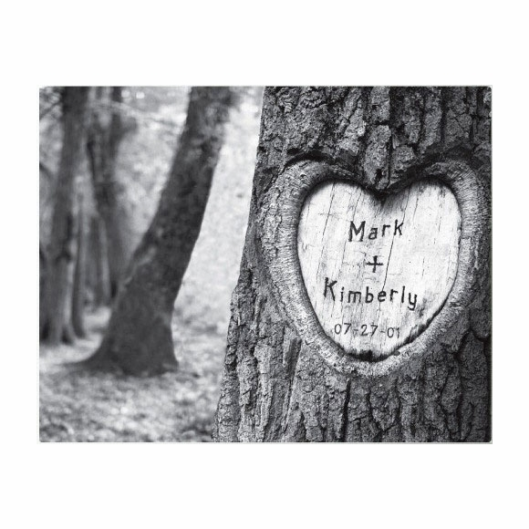 Personalized Tree of Love Canvas Print Wall Art
