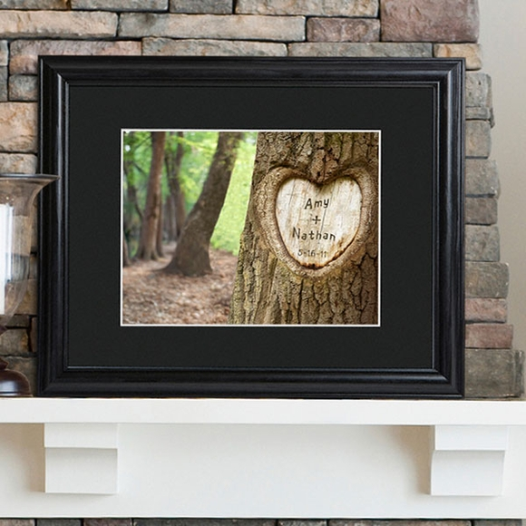Personalized Tree of Love Print in Wood Frame
