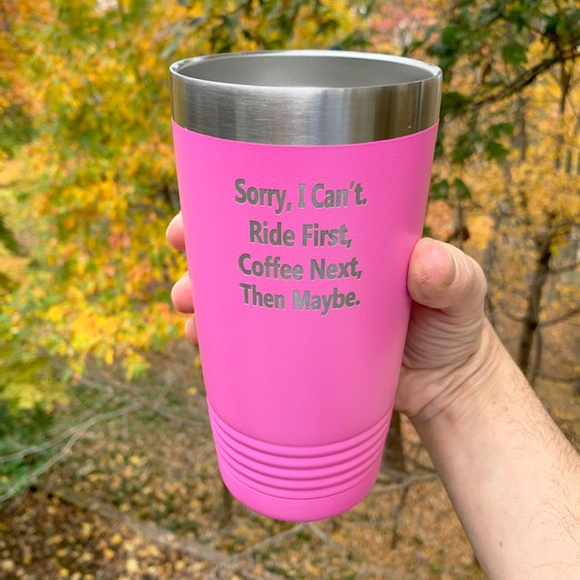 Personalized Tumbler - Vacuum Insulated Stainless Steel Custom Engraved With Your Text